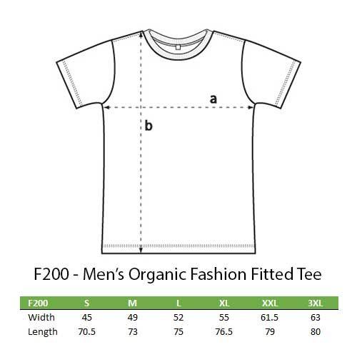 Mens organic fashion T sizes